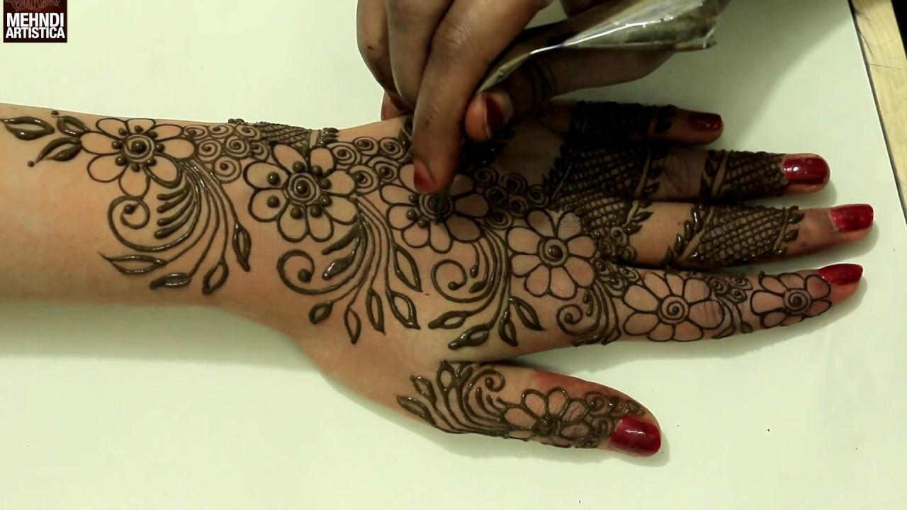 Stylish Unique Mehndi Designs: Floral Leafy Stunning Henna Mehndi Design