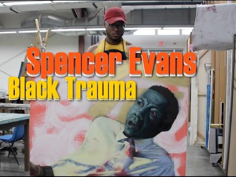 Spencer Evans talks about dramatic facial expressions in his work