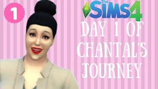 Chantal's Day 1 Journey || THE SIMS 4 WEIGHT LOSS JOURNEY CHALLENGE