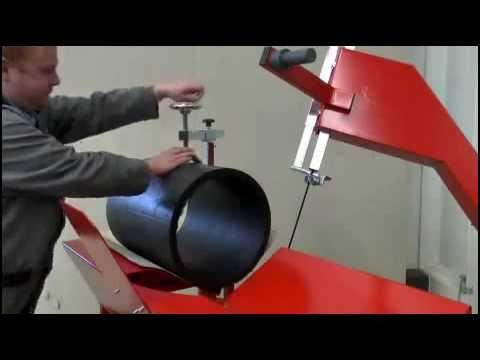 Демонстрация работы ленточной пилы ROTHENBERGER BS 450 | Www.tool-tech.ru