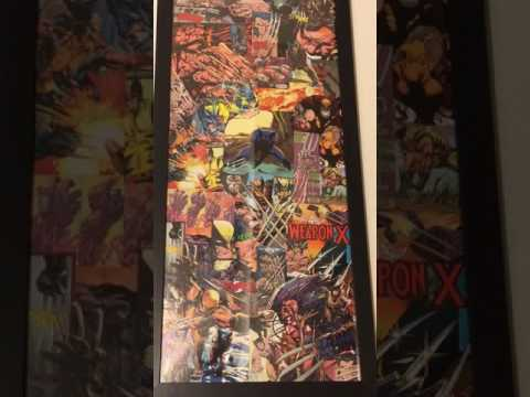 Wolverine original collage comic book poster art