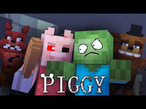 MONSTER SCHOOL : PIGGY ROBLOX CHALLENGE (w/ FNAF) - Minecraft Animation