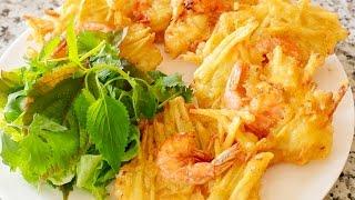 Cách làm Bánh Tôm - Sweet Potato Shrimp Cakes