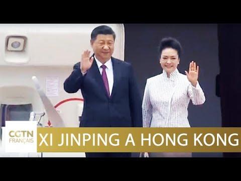 Président Xi Jinping : arrivée à Hong Kong