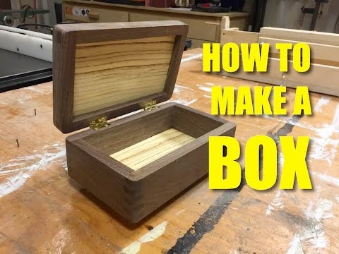 Box Made Using Finger Joints