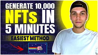 How to Generate 10,000+ NFTs (NO  CODING + METADATA INCLUDED)