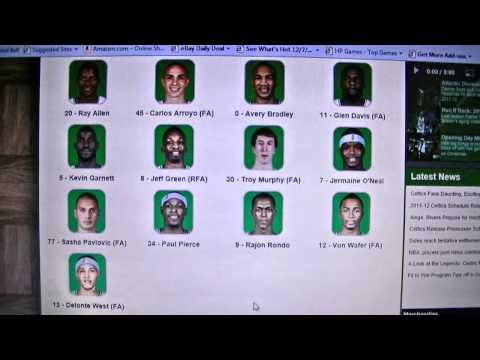 boston celtics roster 2011 2012