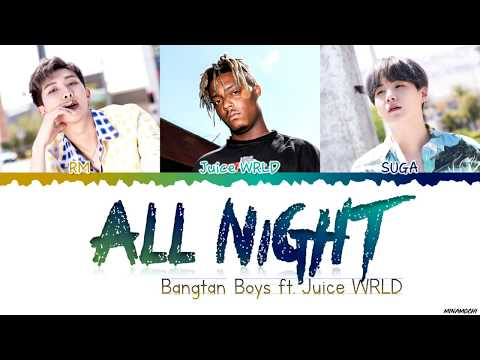 BTS (방탄소년단) - 'All Night' (ft. Juice WRLD) Lyrics [Color Coded Han_Rom_Eng] #BTSWORLD_OST
