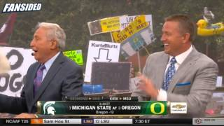 Michigan State vs Oregon: Lee Corso head gear pick on ESPN College GameDay for Week 2