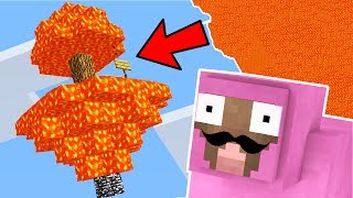 THE SKY IS LAVA CHALLENGE!! (MINECRAFT IMPOSSIBLE CHALLENGE)