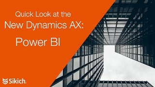 La Nouvelle Dynamics AX et Power BI