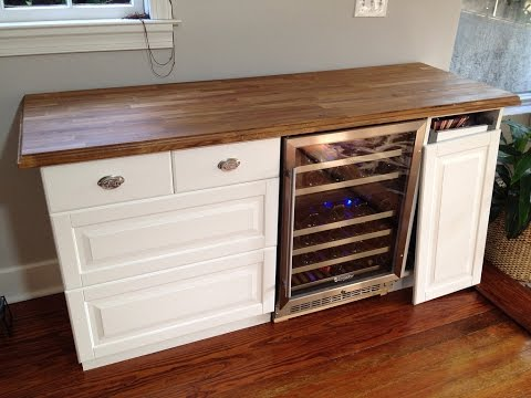 Great Mini Refrigerator Cabinet Bar