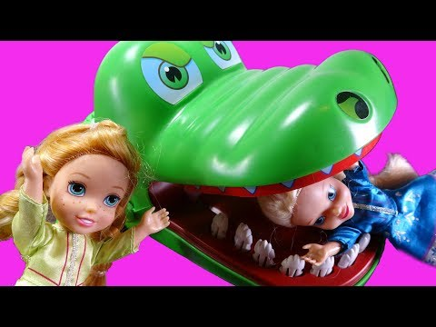 Elsa and Anna toddlers board games competition with chelsea and Disney princess toddlers
