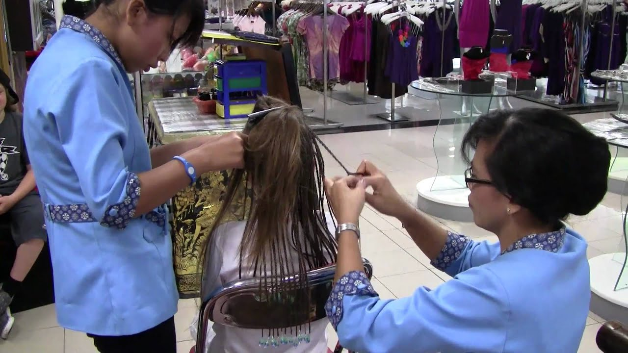 Hair Braiding In Bali Youtube