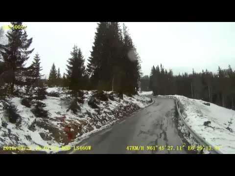 trip on county road 60 over Utvik mountain
