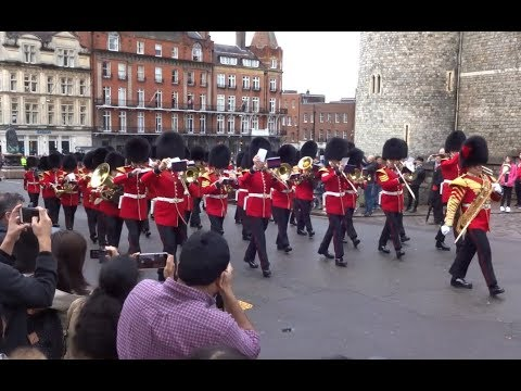 Changing the Guard at Windsor Castle - Monday the 2nd of April 2018