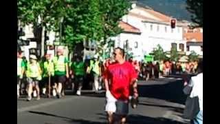 Paso de los mineros asturianos por Guadarrama ( Madrid ) 8-7-2012