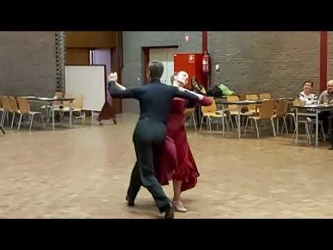 Opendeur 14/09/2019 Trage Wals Dorien en Nikita, danspaar Ballroom Blitz