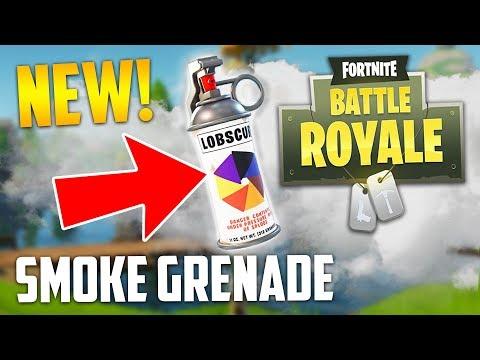 NEW SMOKE GRENADE UPDATE!! (Fortnite Battle Royale)