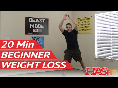20 Min Beginner Workout for Weight Loss – HASfit Easy Exercises to Lose Weight