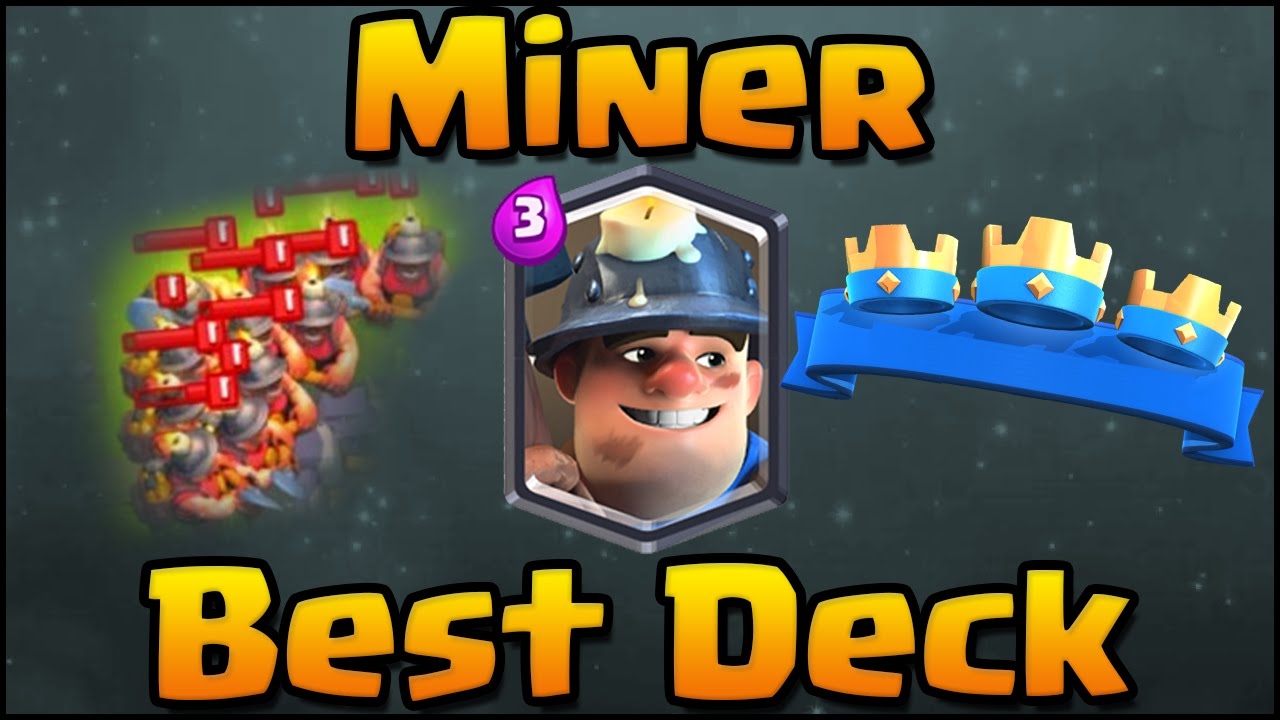 Clash Royale Best Miner Deck And Attack Strategy For Arena 6 7 8 Miner Hog Rider Cycle Deck Youtube