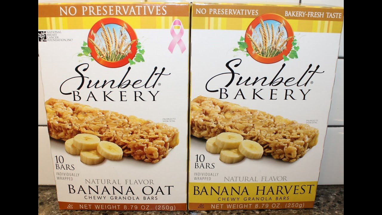 Sunbelt Bakery Banana Oat amp Banana Harvest Chewy Granola