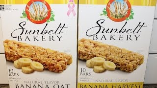 Sunbelt Bakery: Banana Oat & Banana Harvest Chewy Granola Bar Review