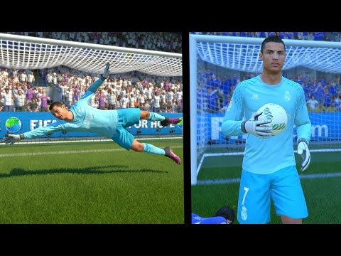 FIFA 17 - CRISTIANO RONALDO PLAYING GOALKEEPER!