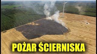 Pożar Ścierniska 2019 - Spaliło Się 5 Hektarów
