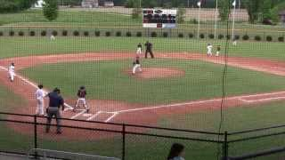 ejection worthy 9u baseball runner takes out catcher blocking the base path