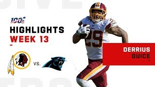 Derrius Guice Shreds Panthers w/ 129 Yds & 2 TDs | NFL 2019 Highlights