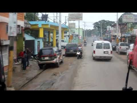 Atravesando Higüey en autobús - República Dominicana