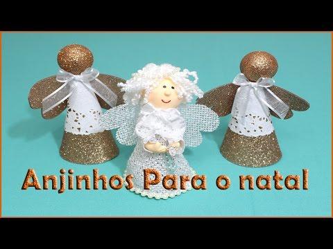 Anjinhos Para Decoração De Natal , Muito Fácil E Rápido De Fazer.