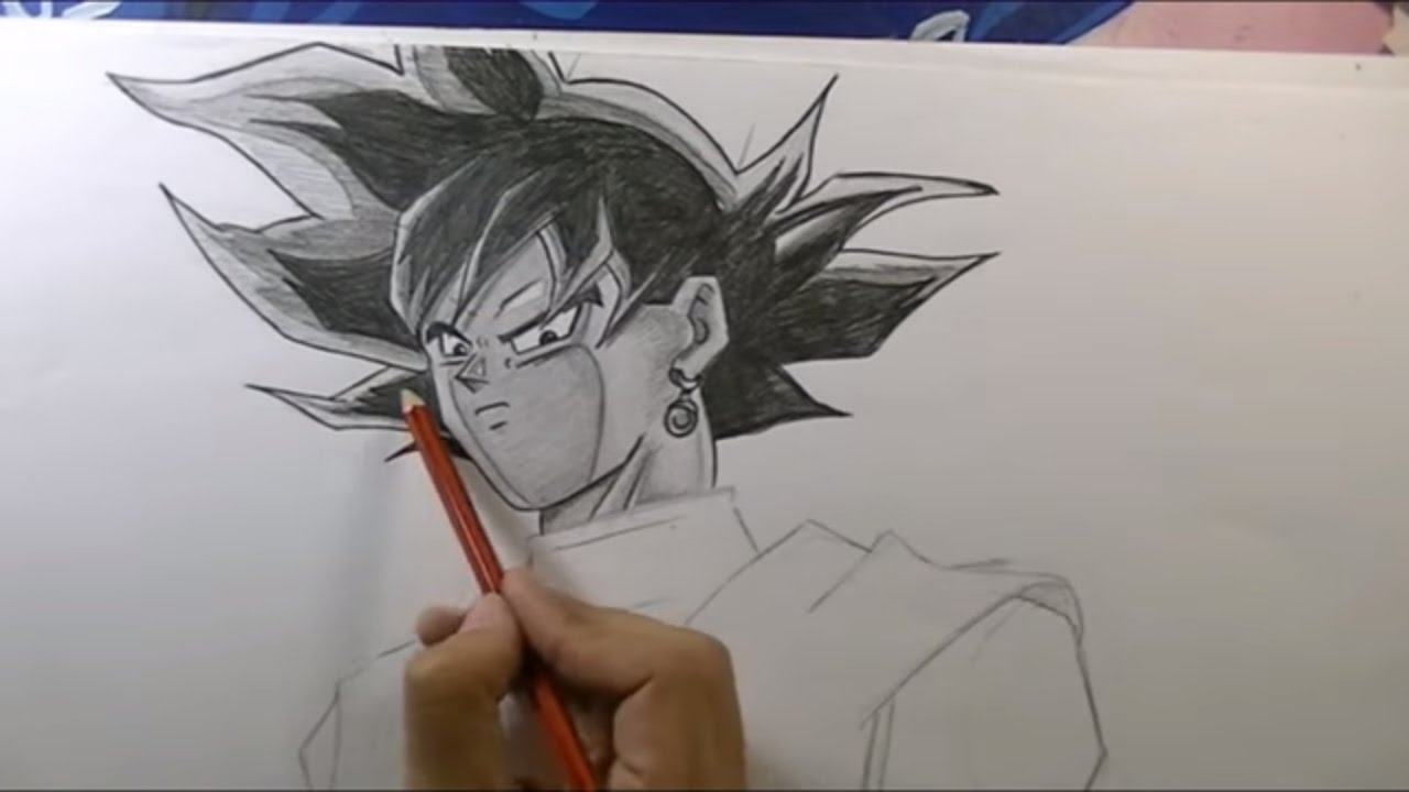 Cómo Dibujar A Gokú Black A Lápiz Negro Dragon Ball Super Youtube