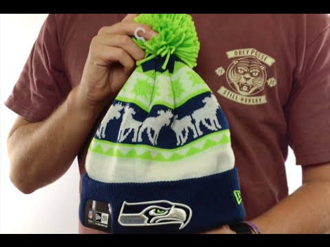 0943e1c822a Seahawks  THE-MOOSER  Knit Beanie Hat by New Era - YouTube