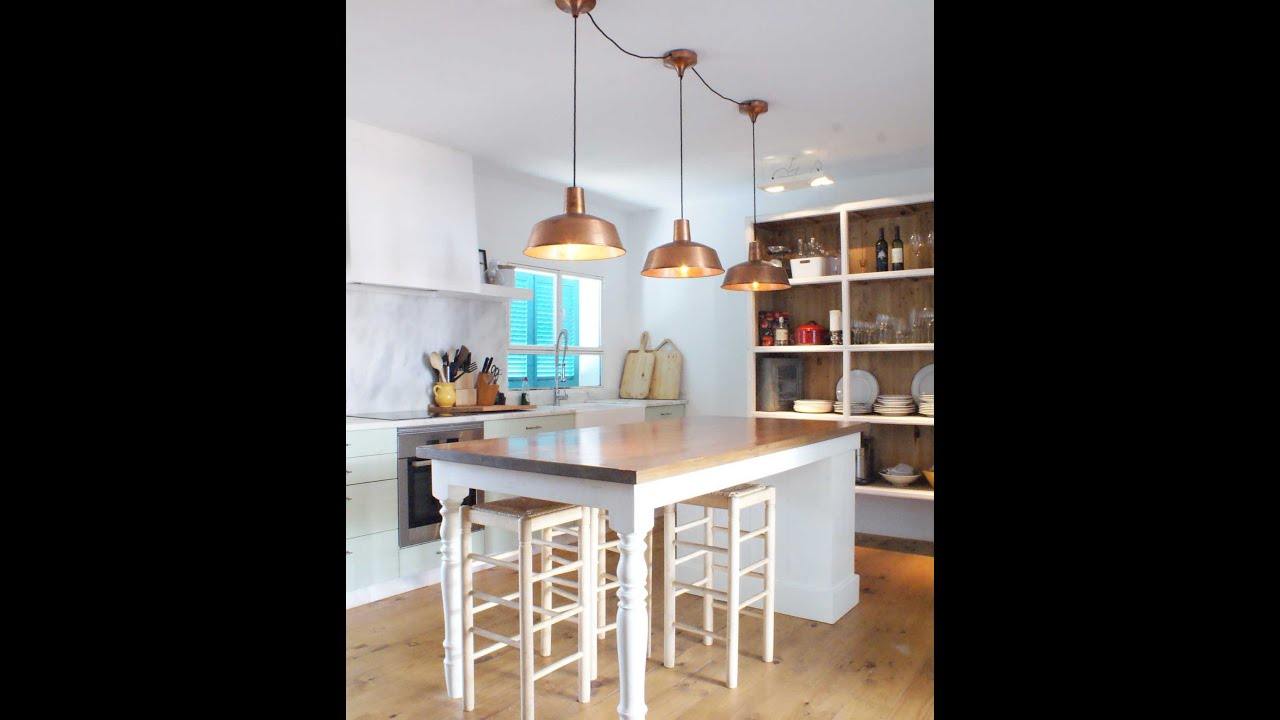 Ideas para decorar tu casa cocinas con lamparas estilo - Como decorar una lampara ...