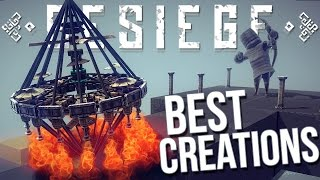 Besiege Best Creations - Diamond Helicopter, Perpetual Motion, Flying Car & More!