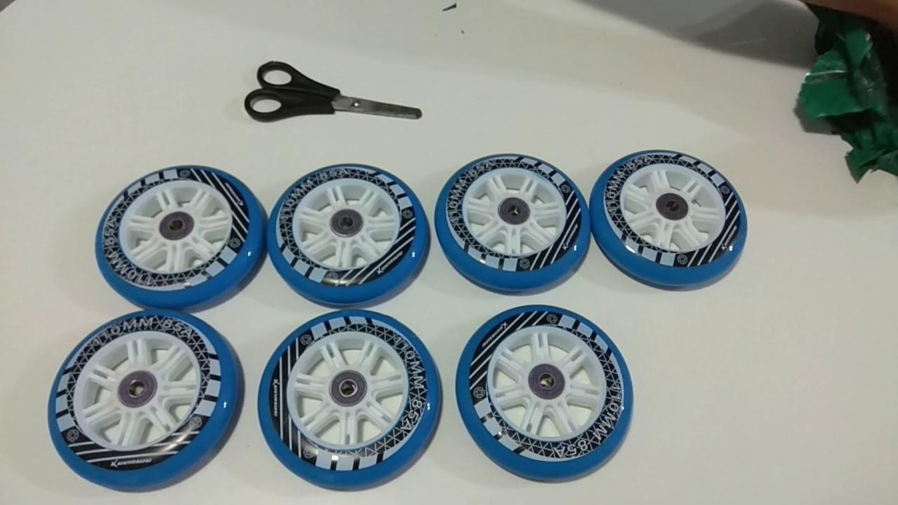 Unboxing rodas de Japy Skate 110 mm Aliexpress