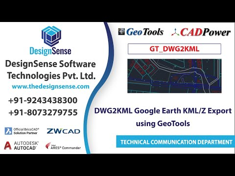 GeoTools, Geographic, DWG2KML Google Earth KML/Z Export