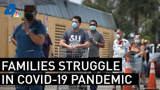'Pandemic of Poverty' Families Struggle During the COVID-19 Outbreak | NBCLA