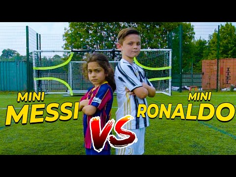 EPIC MINI MESSI VS MINI RONALDO SKILLS BATTLE | Billy Wingrove & Jeremy Lynch Thumbnail