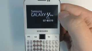 Samsung Galaxy Y Pro B5510 - How to remove pattern lock by hard reset