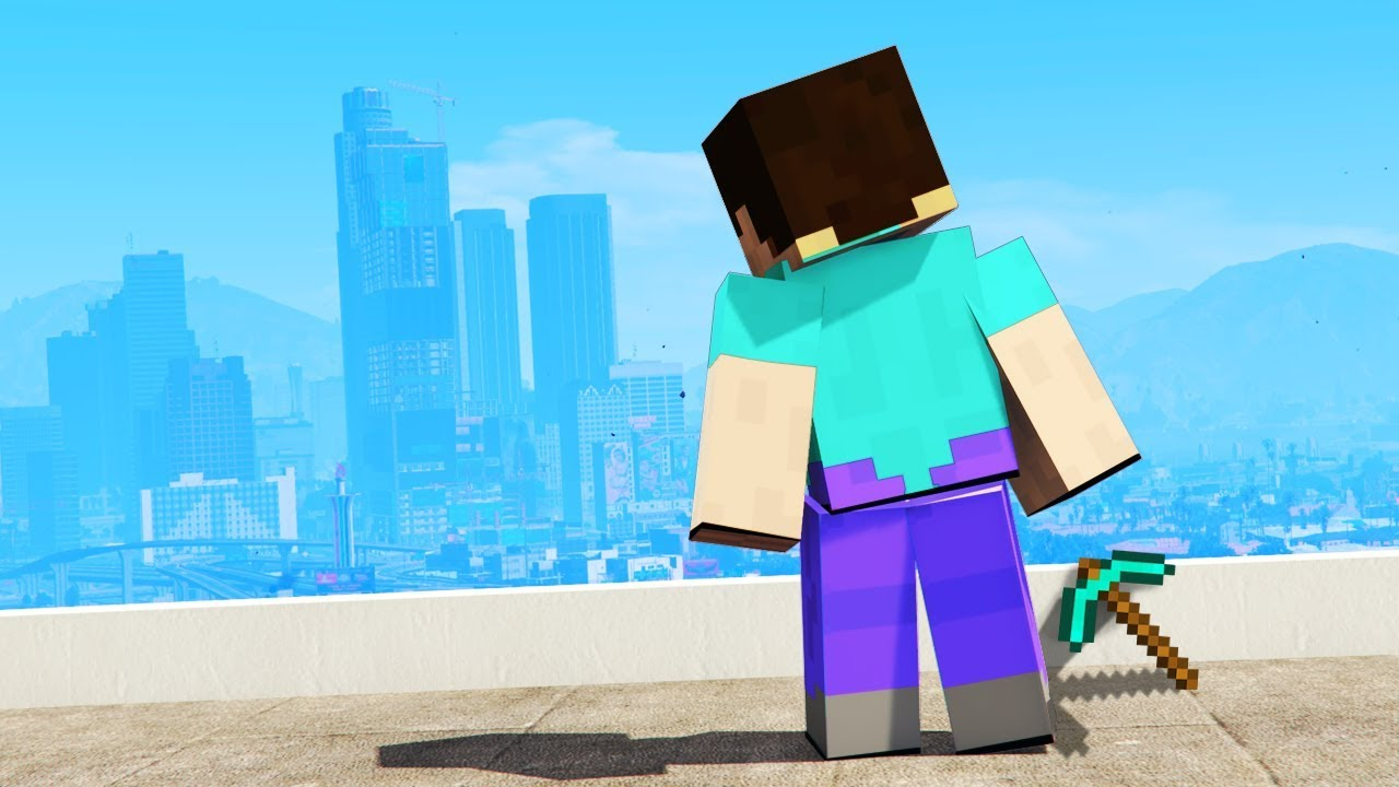 Playing the MINECRAFT Version of GTA 5!