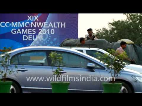 Till nightfall security forces guard the city during Delhi XIX Commonwealth Games,
