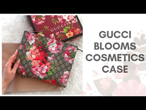 GUCCI BLOOMS COSMETICS CASE - Unboxing And First Impressions