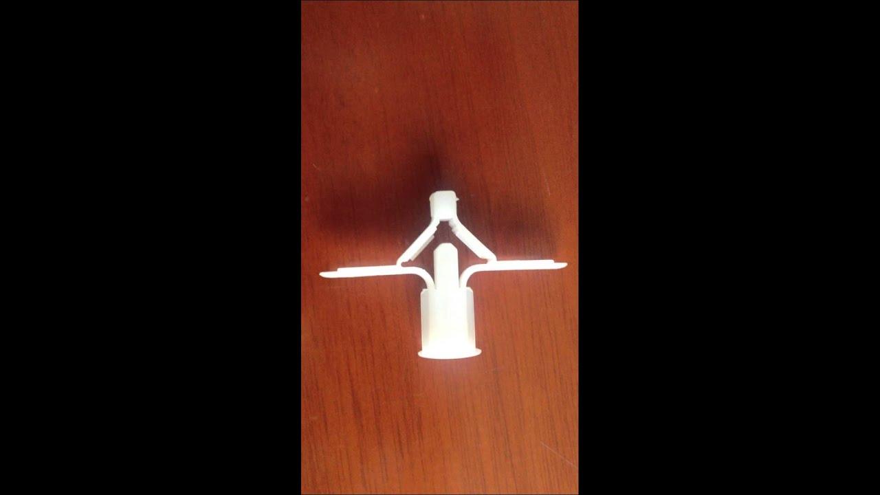 Taco de nylon para ladrillos huecos y placas de cart n yeso youtube - Placas de yeso para pared ...