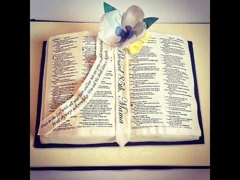 Bible Book Cake Tutorial