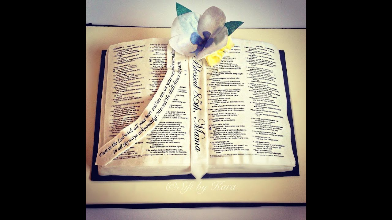 Images Of Open Bible Cake