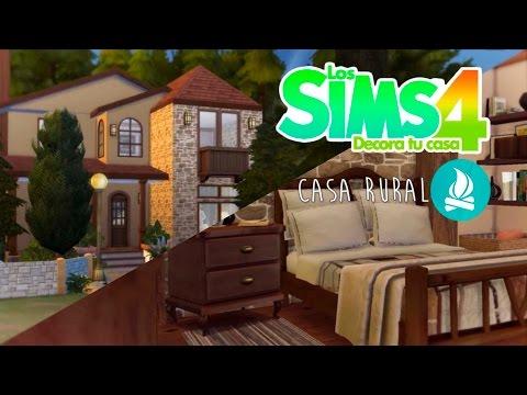 Los sims 4 decora tu casa casa rural youtube - Como decorar una casa rural ...