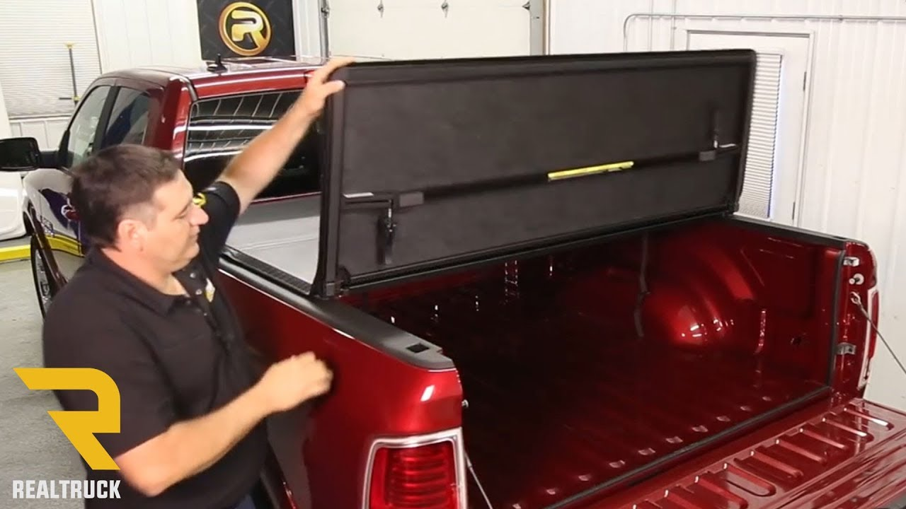 How to Install American Hard Tri-Fold Tonneau Cover - YouTube